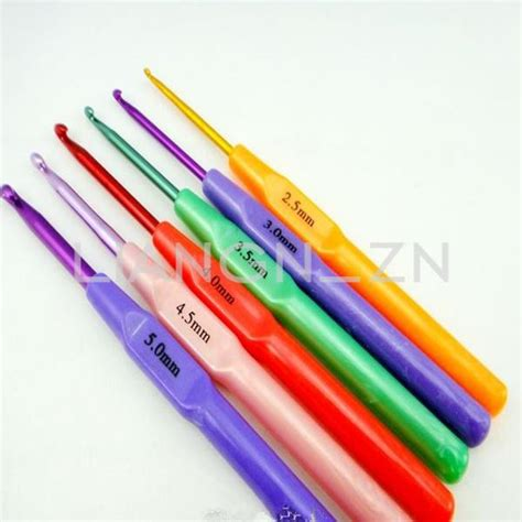 knitting hook plastic aluminum handle crochet hook bamboo knitting knit