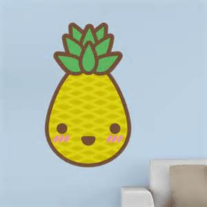 Reusable Wall Stickers kawaii pineapple wall decals human