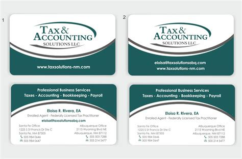 tax professional business cards template tax accounting business needs business card design