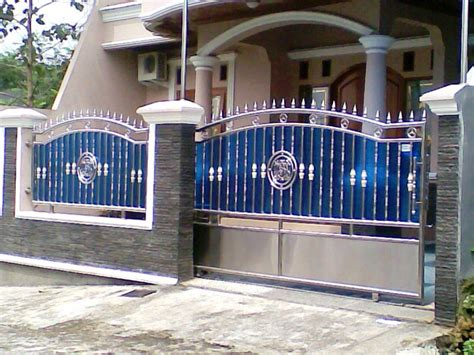 kombinasi warna cat pagar rumah minimalis hijau ungu