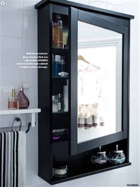 Mirrored Bathroom Cabinets Ikea Ikea Hemnes Mirrored Bathroom Cabinet Bath Ideas Juxtapost