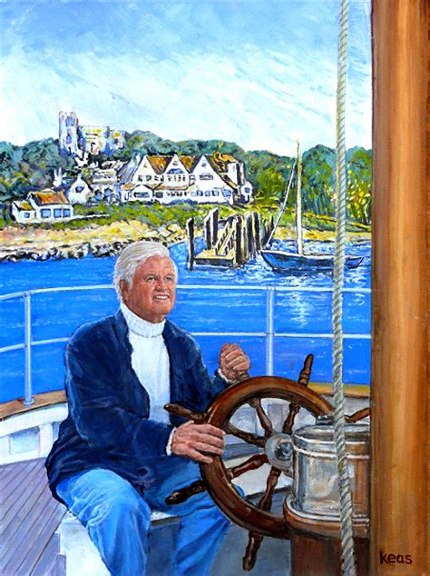 spray painter port kennedy painting of ted kennedy sailing from hyannis port compound