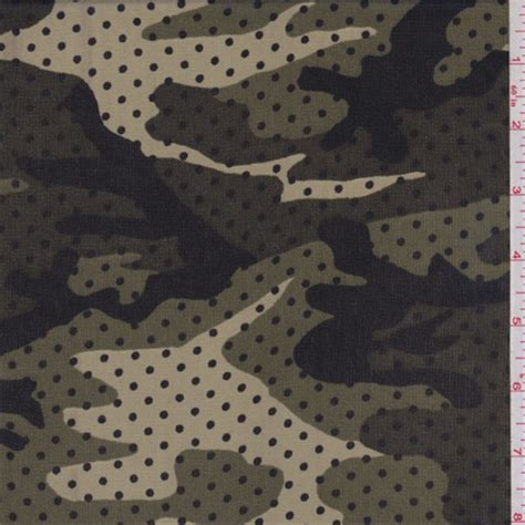 camo fabric com army green olive tan camo dot print georgette 62377