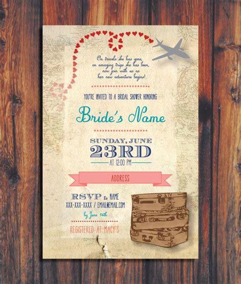 Wedding Invitations Travel Theme by Bridal Shower Invitations Bridal Shower Invitations