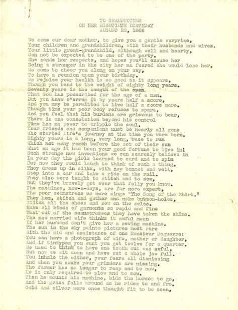 Ode To Betsey by Heirlooms Reunited Poem To Betsey Kingman Fillebrown