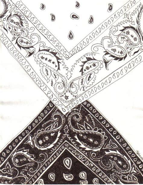 bandana tattoos bandana design drawing by blackroseryoko s
