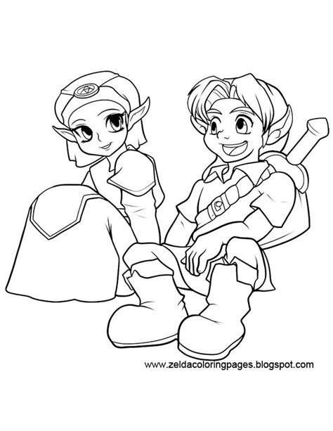 Zelda Coloring Pages Coloring Page Of Legend Of Ocarina Of Time