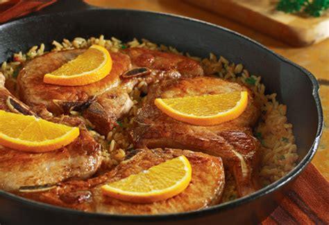 pork dinner recipes cbell s pork chop skillet dinner recipe just a pinch