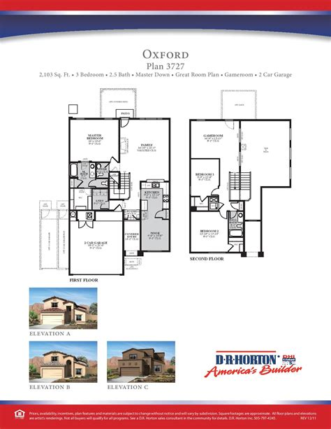 Dr Horton Oxford Floor Plan | oxford floor plan
