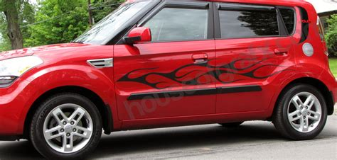 Decals For Kia Soul Flaming Side Decal Decals Graphics Fit Kia Soul