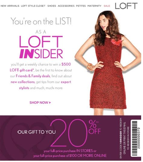 Ann Taylor Loft Gift Card Promo Code - loft coupons 20 off 100 free shipping coupon code 2013