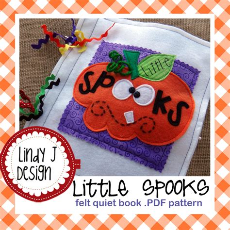 felt pattern book download little spooks felt quiet book pdf pattern