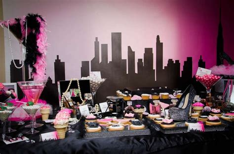 city themed decorations chanel and the city birthday ideas and