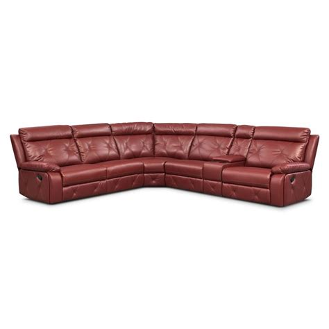 Living Room Furniture 6 Pc Power Reclining Sectional W Rustic Reclining Sofa