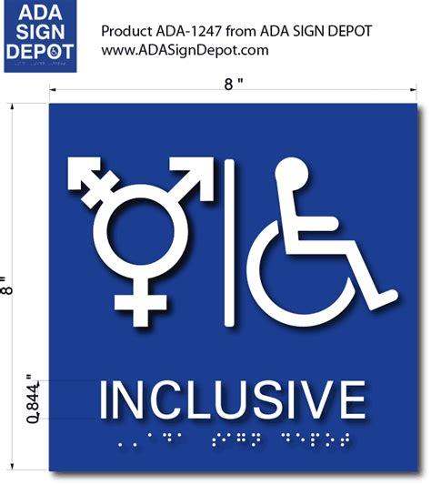 inclusive symbol wheelchair accessible bathroom ada signs