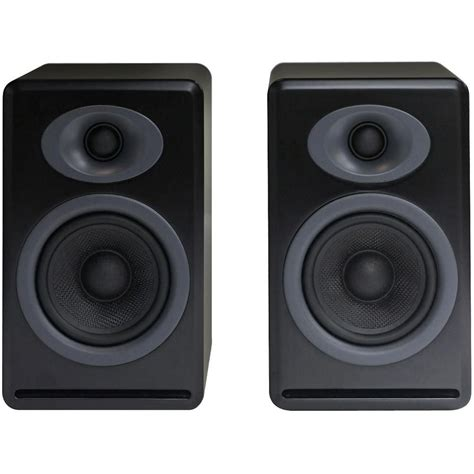 audioengine p4 2 way passive bookshelf speakers ap4b b h photo