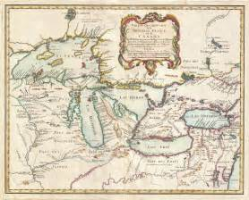 map of with lakes map of the pays d en haut 1755 cliosphere
