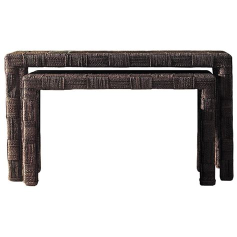 nesting console table set nesting console tables set abaca twist dcg stores