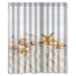 Seashell Curtains Bathroom Welcome Waterproof Decorative Seashell Shower Curtain 60 Quot X72 Quot 4 Home Kitchen