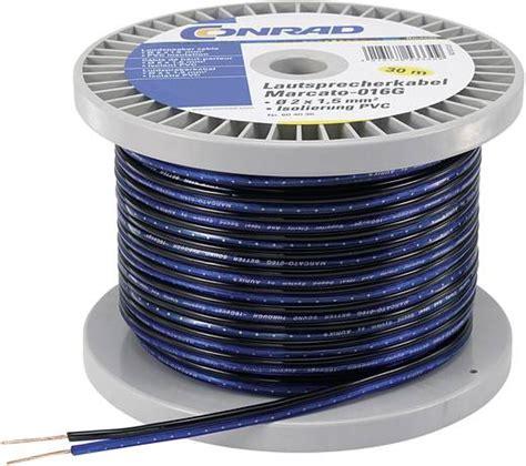 Kabel Speaker 2 X 80 30m lautsprecherkabel 2 x 0 80 mm 178 blau schwarz conrad components 1386697 30 m