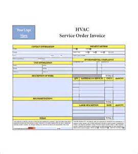 hvac quote template hvac invoice templates 6 free word excel pdf format