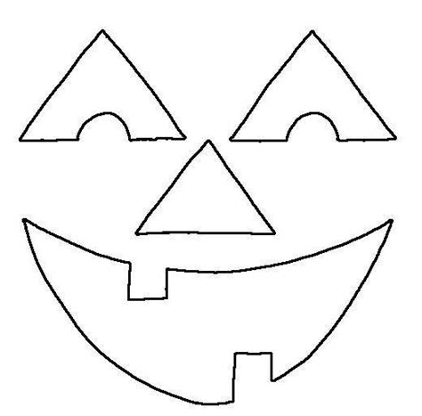 happy pumpkin face template clipart best