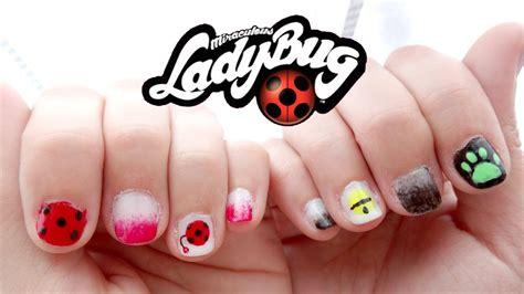 easy nail art ladybug nail art miraculous ladybug youtube