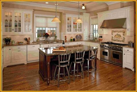 White Kitchens With Islands Brown Kitchen Cabinets With White Island Quicua Com