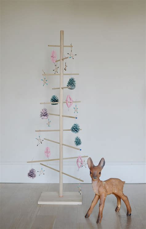 diy simple dowel christmas tree cakies