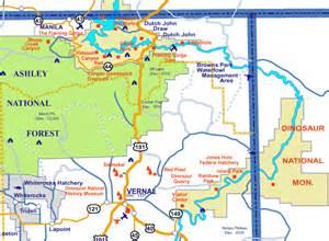 Vernal Utah Map vernal utah map of utah
