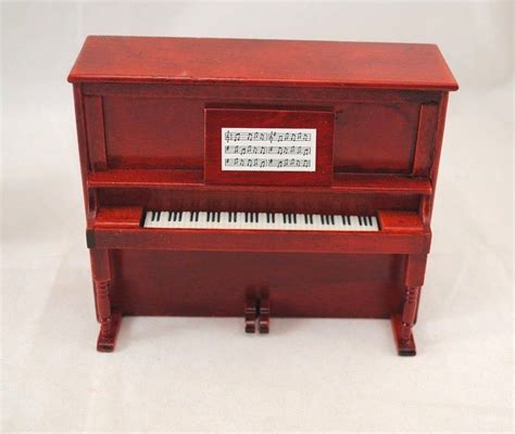 dollhouse 1 12 scale furniture upright piano w bench d7081 miniature dollhouse furniture
