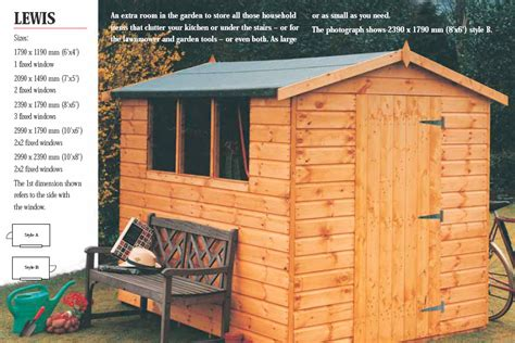 Wooden Sheds Northern Ireland by Riverside Garden Sheds Storage Sheds Northern Ireland