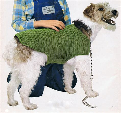 free crochet pattern for a dog coat dog coat crochet pattern pdf vintage t188 instant