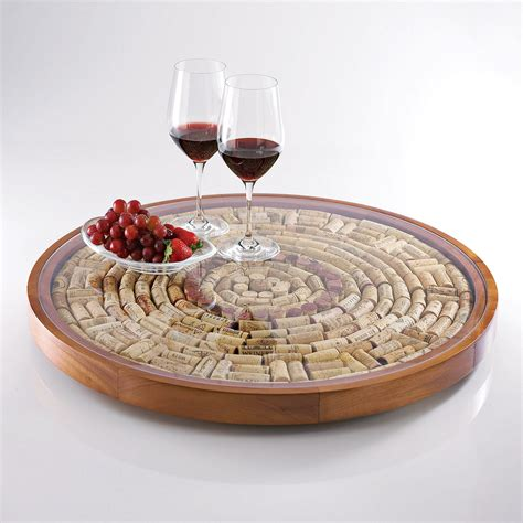 esszimmertisch mit lazy susan 20 clever wine cork diy ideas the in