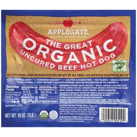 uncured dogs applegate farms the great organic uncured beef dogs 16 oz needs count walmart