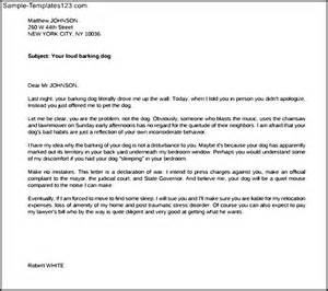 Complaint Letter Template Unprofessional Behavior Complaint Letter About Barking Dogs Printable Pdf Sle Templates