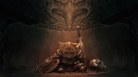 cat  elder scrolls  skyrim lirik wallpapers hd