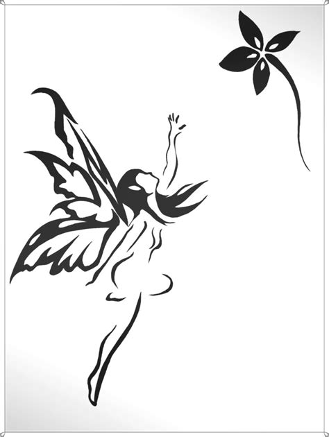 fairy and flower tattoo designs black tribal small with flower design