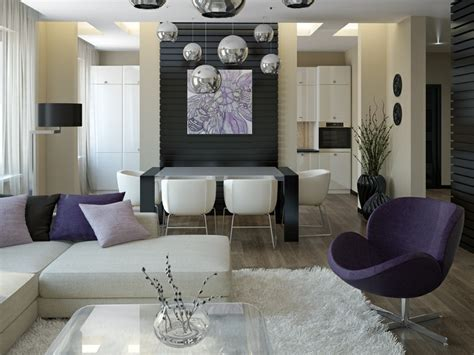 purple living rooms purple white living room diner interior design ideas