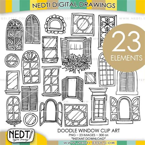 doodle free for windows 7 windows doodle clip window clipart digital images