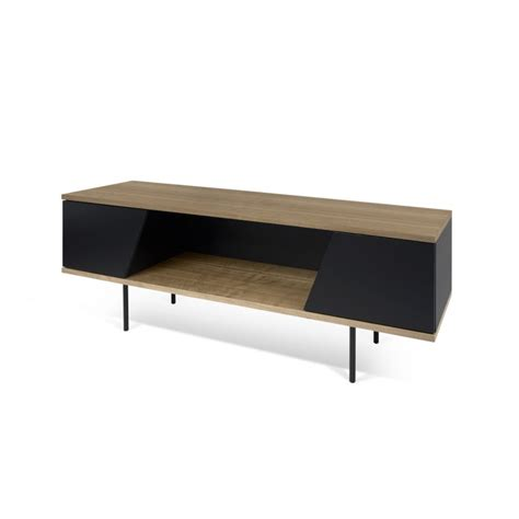 design elements tv temahome meuble tv design quot dixie quot 140cm noir noyer