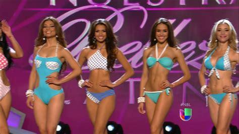 video de las bellza latinas de la pasarela del 2015 pasarela en bikini de las 7 participantes que siguen en
