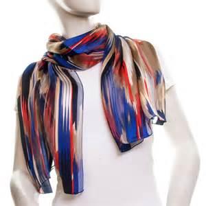blue and white silk scarf silk scarf printed