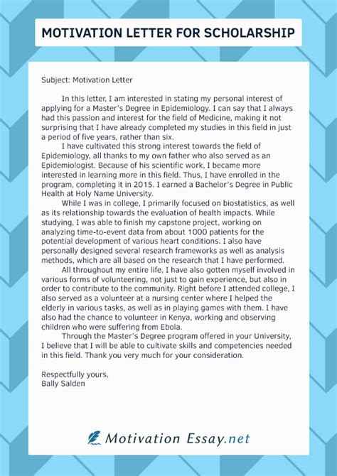 Motivation Letter Format For Scholarship Great Motivation Letter Scholarship Writing Service Motivation Essay