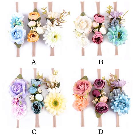 8 Floral Inspired Accessories 3pcs set fashion floral headband bohemian style