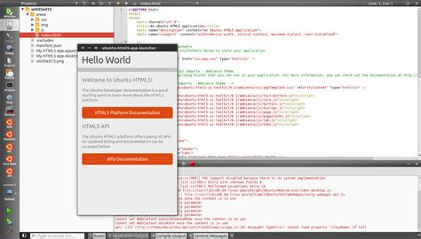 html5 template file guides html5 guide ubuntu phone documentation