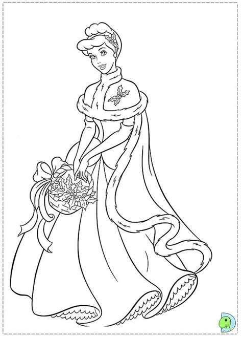 Coloring Pages Christmas Princess | princess christmas coloring pages az coloring pages