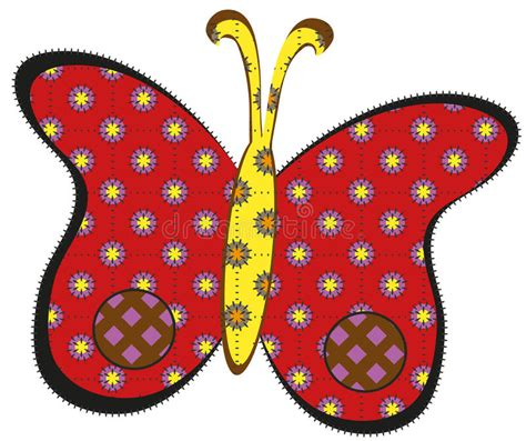Patchwork Butterfly - patchwork butterfly royalty free stock image image