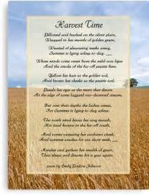quot harvest time scene and poem quot canvas prints by spicetree