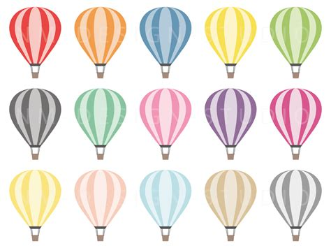 air balloons clipart vector graphics by nm design